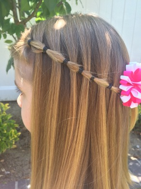 prom hair styles hair elastic waterfall braid hair by 3891
